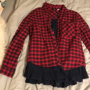 Urban outfitters layered flannel